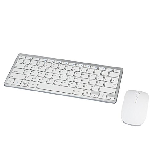 Price comparison product image Gotd Ultra Thin White 2.4G Cordless Wireless Keyboard and Optical Mouse
