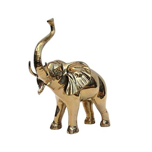Solid Brass Elephant Statue - Nautical Decor