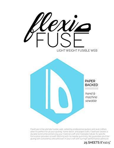"FlexiFuse Lightweight Fusible Web - 25 Sheets (8"" x 10.5"")"