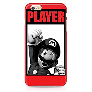 Loud Universe Classic Mario Brother iPhone 6 Case Black And White iPhone 6 Cover with 3d Wrap around Edges