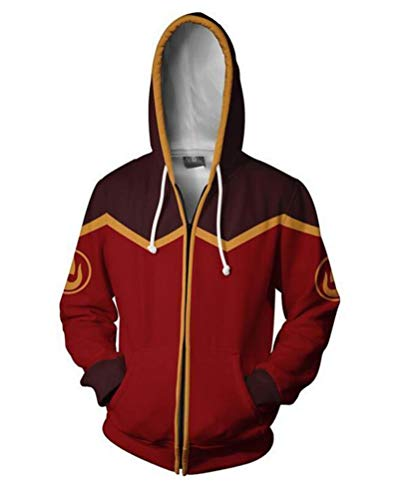 Jonikow Anime Unisex 3D Printed Hoodie Cosplay Costume Adult Zipper Hoodies Jacket (S, 1)]()