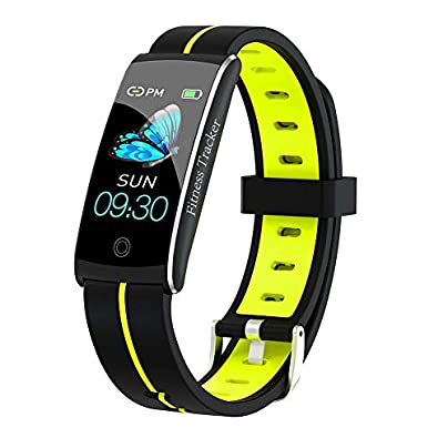 Fitness Tracker Activity Smart Bracelet Wristband with Pedometer Heart Rate Monitor Step Calorie Distance Tracker IP68 Waterproof Remind for Men Women Kids Compatible with Android IOS Estimated Price £39.99 -