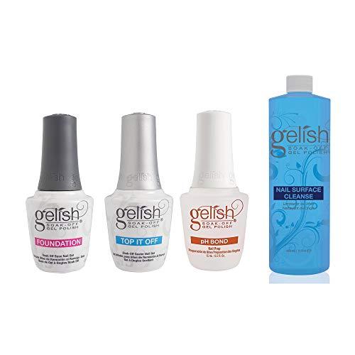 Gelish Terrific Trio Gel Polish Essentials Kit + Nail Surface Cleanser -