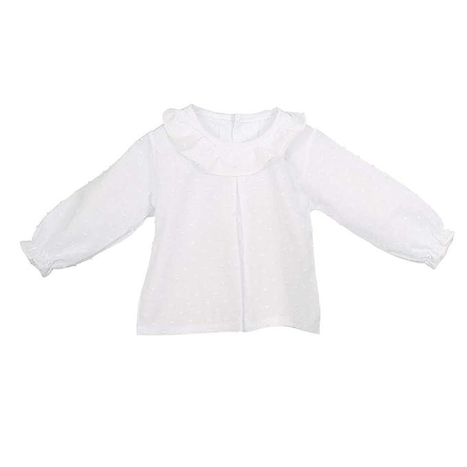 CALAMARO - Camisa PLUMETI BEBÉ bebé-niños Color: Blanco Talla: 1M