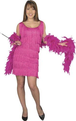 1920 Pink Flapper Girl Dress (Hollowen Adult Costumes)