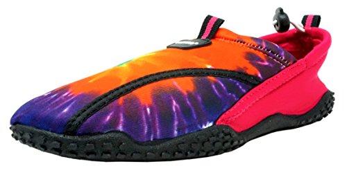 Fresko Kids Tie Dye Water Shoes for Girls, G1026, Pink, 1 M US Little -