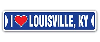 I LOVE LOUISVILLE, KENTUCKY Street Sign ky city state us wall road gift