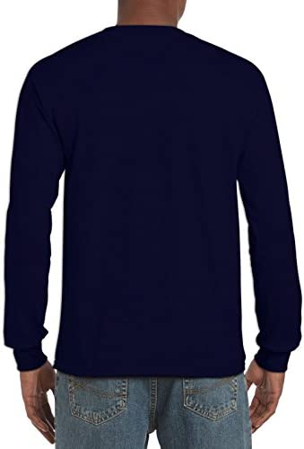 41nRo0HvzqL. AC Gildan Men's Ultra Cotton Long Sleeve T-Shirt, Style G2400, 2-Pack    ImportedNo Closure closureMachine WashLonger dropped shoulder, straighter armhole, and wider, shorter sleevesDouble-stitching at the hems to make it built to lastThick and hefty fabric