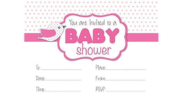 Baby Shower Invitaciones Fiesta Las Futuras Madres Bebe Nina