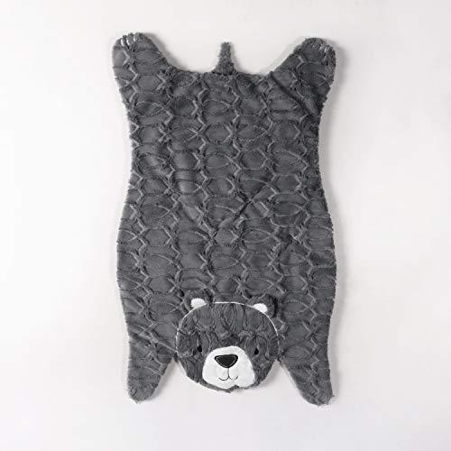 Levtex Baby Play Day Teal Bear Plush Mat, Grey ()