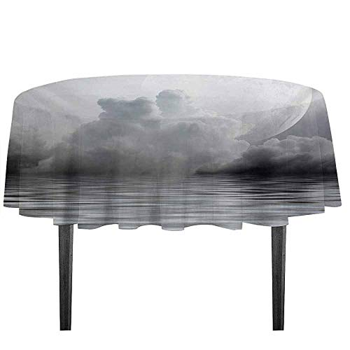 kangkaishi Moon Printed Tablecloth Misty Air in The