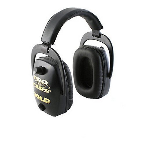 Pro Ears - Pro Slim Gold - Electronic Hearing Protection and Amplification -  NRR 28 - Ear Muffs - Black by Pro Ears