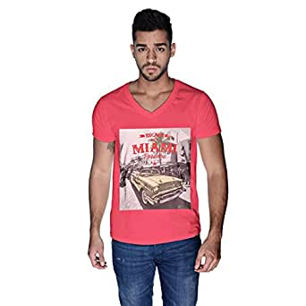 Creo Mint Beard Skull T-Shirt For Men - L, Pink