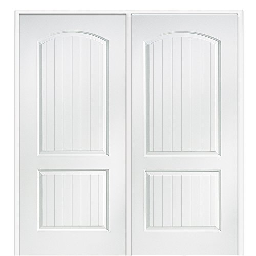National Door Company Z009473R Solid Core Molded 2-Panel Planked, Right Hand Prehung Interior Double Door, 60'' x 80'' by National Door Company