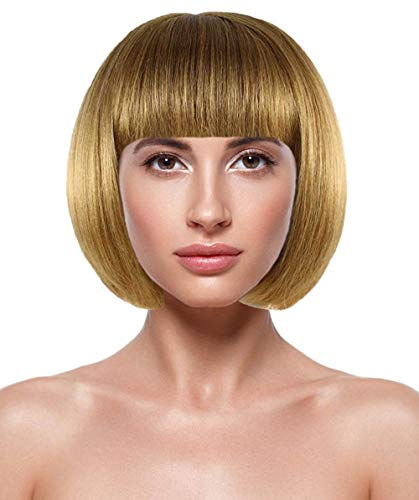 Halloween Party Online Anna Wintour Casual Bob Wig, Brown Adult HW-1638 for $<!--$24.99-->