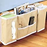 Bedside Storage Caddy, Bedside Organizer - Cream Color