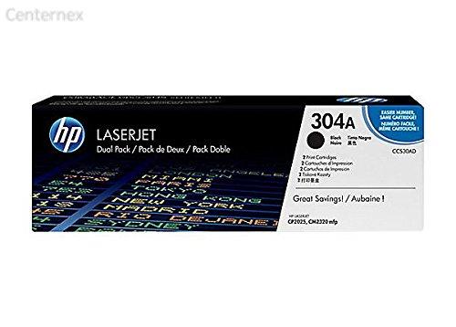 304A (CC530AD) 2-Pack Black Original LaserJet Toner Cartridges–centernex actualización