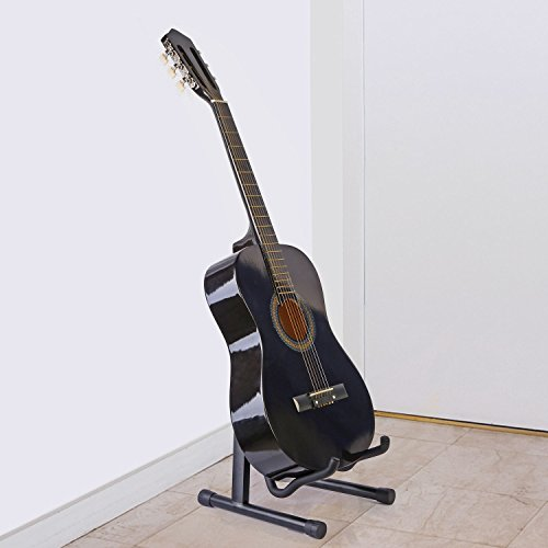 GPCT Universal Foldable Guitar Stand. Ready-To-Use Position, Adjustable Portable Light Weight Guitar Holder. For Electric Box/Classical/Folk/Flamenco/Hawaiian/Bass/Violin/Ukulele/Banjo/Mandolin by GPCT