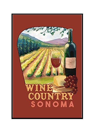 (Sonoma County Wine Country - Contour 98319 (16x24 Framed Gallery Wrapped Stretched Canvas))