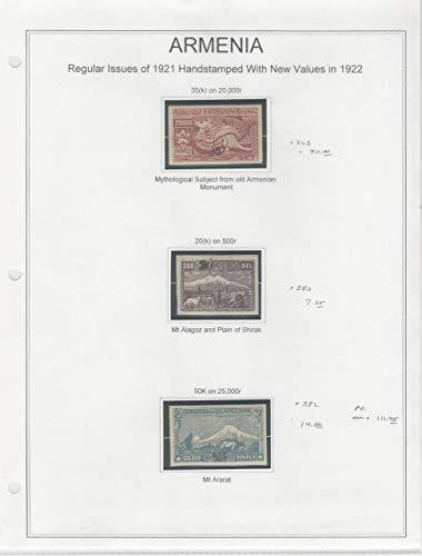 Armenia, Postage Stamp, 368, 380, 382 Mint LH, 1922, JFZ