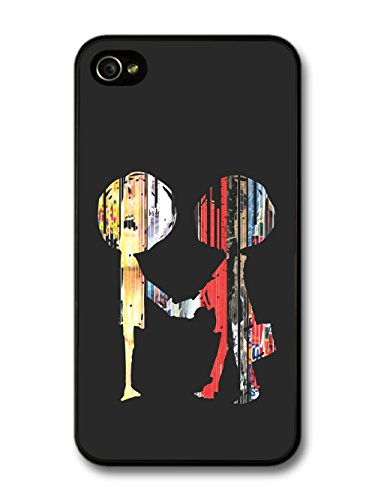 Radiohead Boy and Girl Illustration hülle für iPhone 4 4S