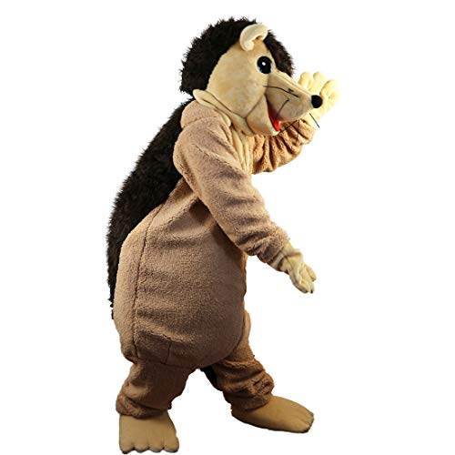 Langteng Brown Hedgehog Porcupine Cartoon Mascot Costume Real Picture 15-20days delivery -