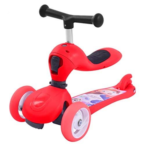 Zhicaikeji La Roue d'élargisseHommest Flash pour Scooter pour Enfants 1-2-3-6 Peut être RapideHommest changée en Trougetinette Souple ( Couleur   rouge )