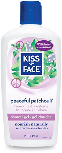 Kiss My Face Shower Gel & Foaming Bath, Peaceful Patchouli, 16 fl oz