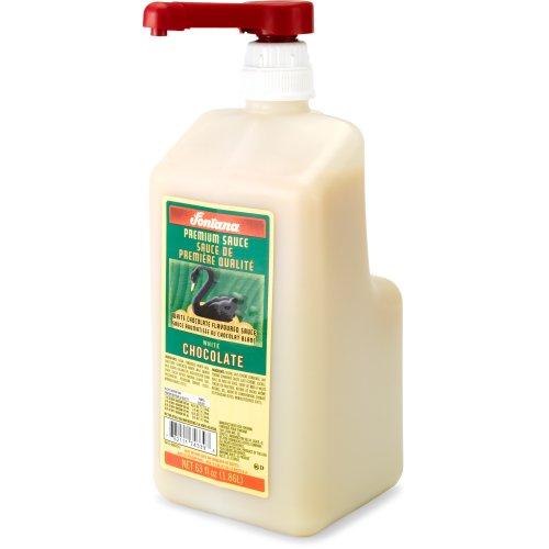 Fontana White Chocolate Mocha Sauce, 63 fl oz (White Chocolate For Coffee)