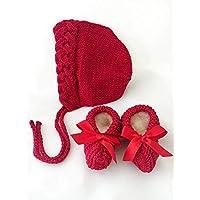 Conjunto rojo de gorro y zapatos - PEONI MILOU/regalo/baby shower/nacimiento/bebé