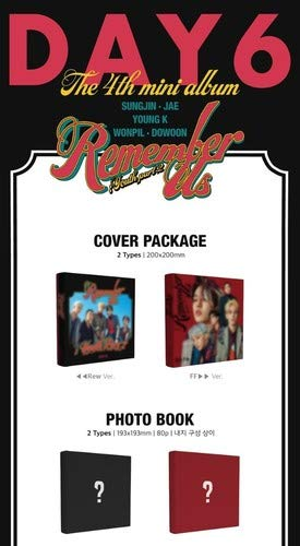 CD : Day6 - 4th Mini Album: Remember Us - Youth Part (With Booklet, Photos, Stickers, Postcard, Asia - Import)