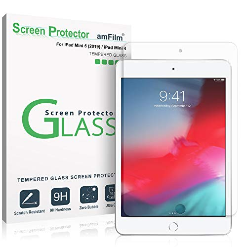 amFilm Glass Screen Protector for iPad Mini 5 (2019) and iPad Mini 4, Tempered - Protector Apple Ipad Screen Mini