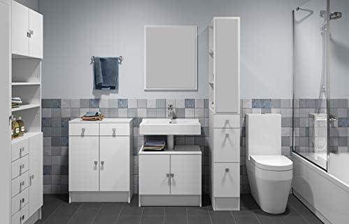 Bianco 60 x 29.6 x 81.5 Legno/_Composito Wood /& Colors Click A2 Mobiletto Bagno 81.5 x 60 x 29.6 cm