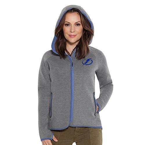 Touch by Alyssa Milano NHL Tampa Bay Lightning Women's Drop Kick Jacket, Grey, ()