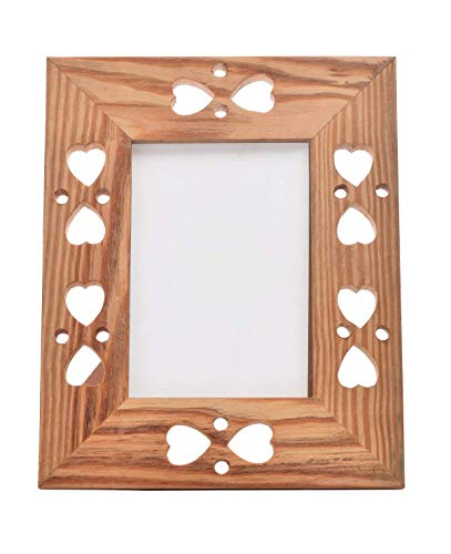 (storeindya Vintage Wooden Single Picture Photo Frame Stand French Style Heart Design Home Living Room Decor (Design 2))