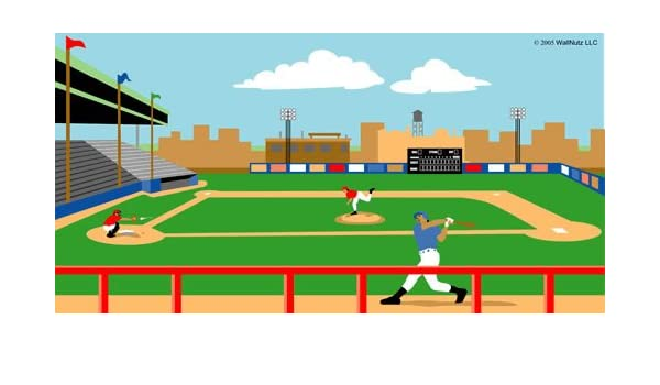 Amazon Wallnutz Murals Baseball Stadium Wall Mural Kit Home Kitchen