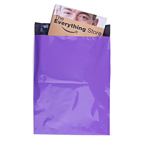 Metronic 100 Pcs Poly Mailers Envelopes Shipping Bags with Self Adhesive Waterproof and Tear-proof Postal Bags Light Purple (12x15.5)