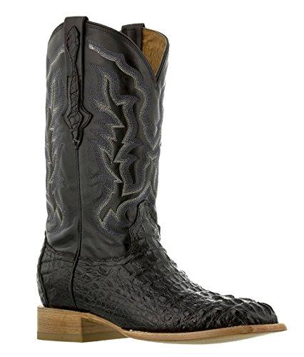 (EL PRESIDENTE - Men's Black Real Crocodile Skin Western Cowboy Boots Square 12 E)