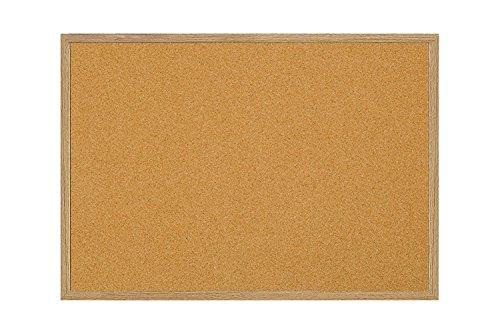 MasterVision Bulletin Board, Cork Board, Pin Board with Oak Frame, 36