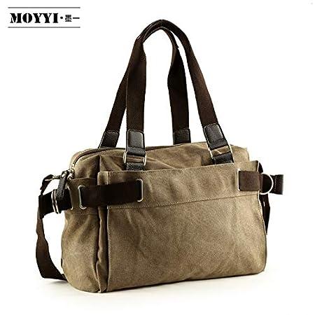 LIUXINDA-NS Mens Classic Mens Bag Casual Canvas Bag Mens Shoulder Bag Messenger Bag Student Book Travel Handbag