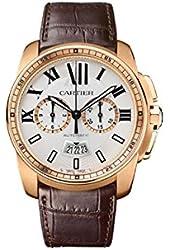 Cartier Calibre Men's 18k Rose Gold Automatic Chronograph Watch - W7100044