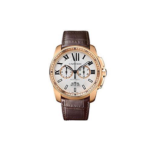 Automatic Chronograph Rose - Cartier Calibre Men's 18k Rose Gold Automatic Chronograph Watch - W7100044