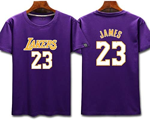 L.A Lakers James #23 T shirt Jeunes Hommes Name Number Mode Basketball Sports T-shirts Tee Tops