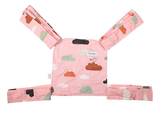 (Sigzagor Baby Doll Carrier Mei Tai Sling Toy for Kids Children Toddler Front Back,Mini Carrier,Birthday Christmas Gift (Cloud) )