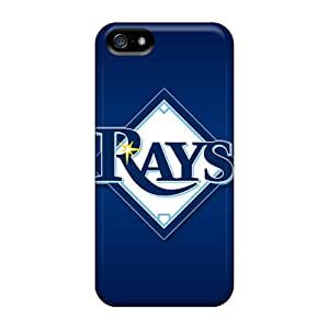 Tpu Case Cover For Iphone 5/5s Strong Protect Case - Tampa Bay Rays Design