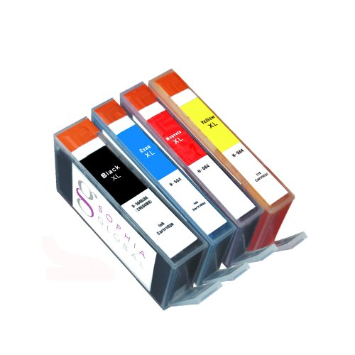 Sophia Global Compatible Ink Cartridge Replacement for HP 564XL (1 Black, 1 Cyan, 1 Magenta, 1 Yellow)