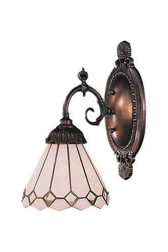 Elk 071-Tb-04 Clear Diamond Mix-N-Match 1-Light Sconce, 10-Inch, Tiffany Bronze
