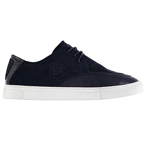 883Police Ruten Casual Trainer Herren Navy/Tan Fashion Turnschuhe Sneakers Schuhe