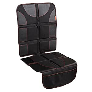 Car Seat Protector with Thickest Padding - Featuring XL Size (Best Coverage Available), Durable, Waterproof 600D Fabric, PVC Leather Reinforced Corners & 2 Large Pockets for Handy Storage
