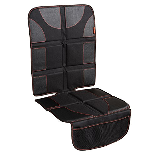 - Car Seat Protector with Thickest Padding - Featuring XL Size (Best Coverage Available), Durable, Waterproof 600D Fabric, PVC Leather Reinforced Corners & 2 Large Pockets for Handy Storage